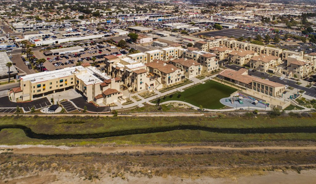 Ariel view of Paradise Creek housing and greenspace