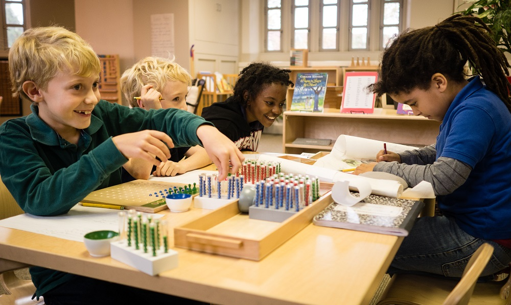 Kids at Lee Montessori school in Washington, DC