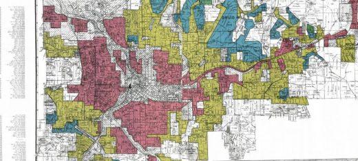 Redlined map of Atlanta in 1938